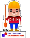 dig in challenge pin