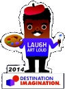 laugh art loud challenge pin