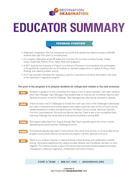 14-15 Educator Summary Flyer 6 17 14-Thumb
