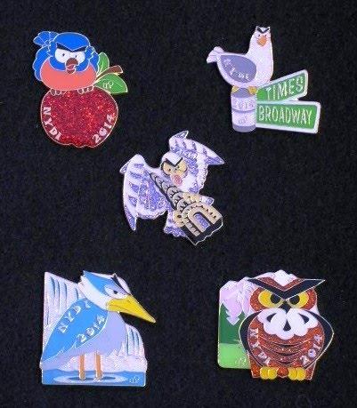 NY Angry Birds Pin Set 2014
