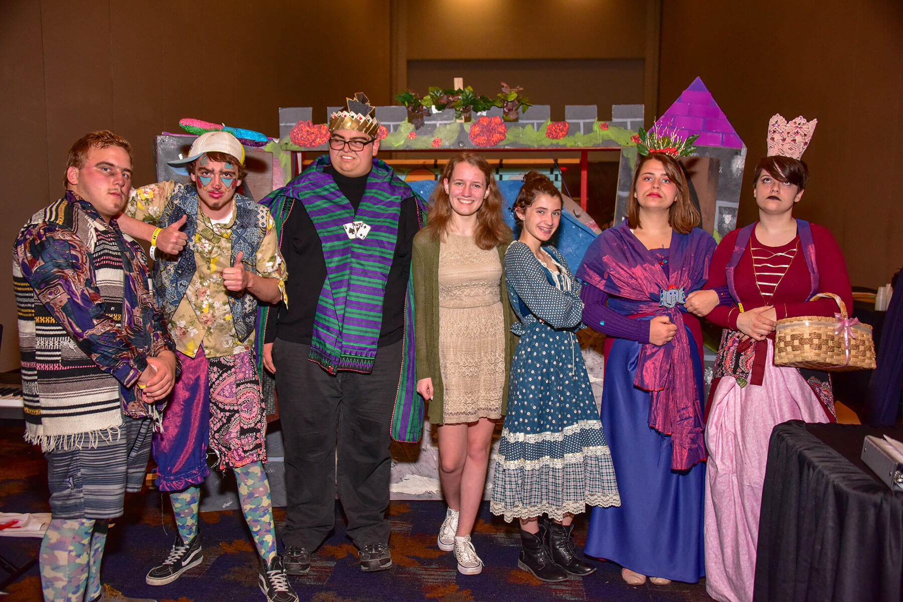 Group of students posing for a photo at a Destination Imagination tournament