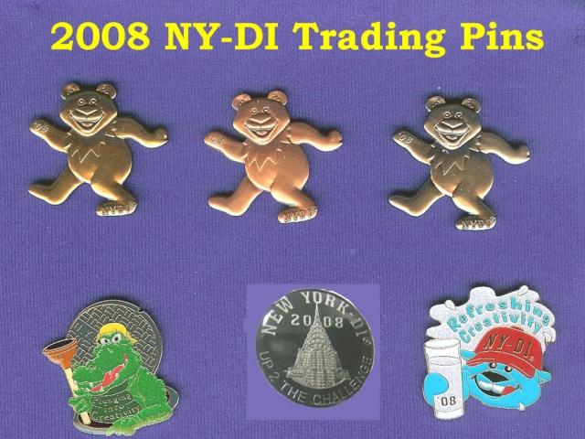 2008 NYDI Trading Pins